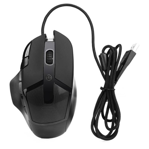 USB Wired Adjustable 2400DPI 8 Keys Gaming Optical Mouse for Win 7/8
