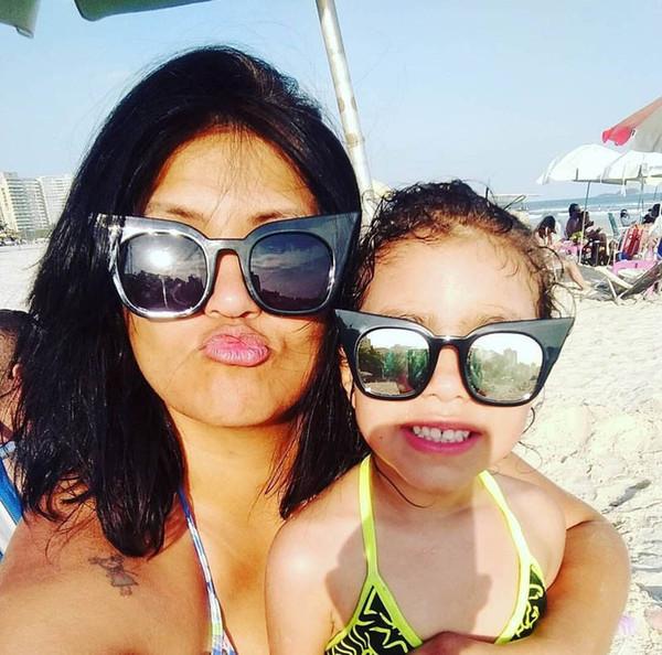 New Oulylan Cat Eye Sunglasses Women Kids Cute Brand Designer Gradient Sun Glasses Ladies Vintage Eyewear Parent Child Models new Kids224