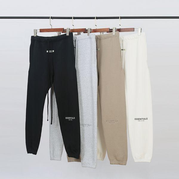 Automne Hiver Haute Qualité USA crainte de Dieu Essentials 6e 3M Reflective Pantalons Broderie Casual brouillard Sweatpants Hommes Pantalons Femmes Jogger