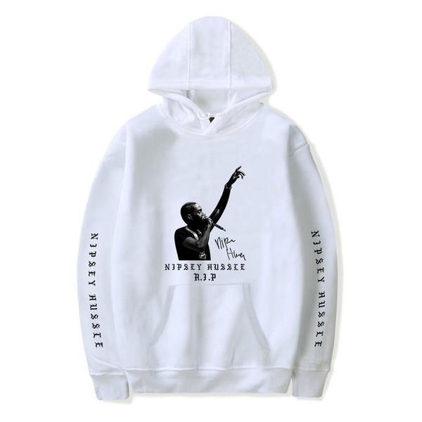 Nipsey Hussle Памятная толстовка с капюшоном 2019 г. Новый хип-хоп рэп-стрит Fashion Casual Авангардный пуловер с принтом логотипа Cotton Comfort Wild