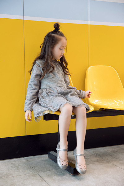 4e929643c3d43 2019 Autumn Winter Girls Dress 2018 Casual Long Sleeves LaceMesh Kids Thick  Dresses For Girl Clothing Cute Party Princess Dress From Westbit19, ...