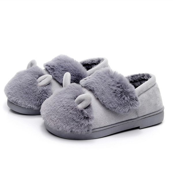 2019 New Winter Cotton Slippers Women Bag With Indoor Home Thick Bottom Non-slip Warm Month Shoes Winter Fur Slippers