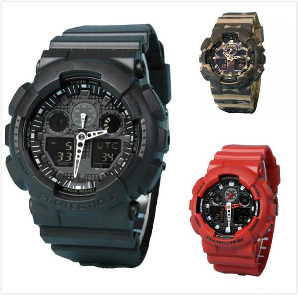 top popular Original shock watches mens sport wr200ar g watch Army Military Shocking Waterproof Watch all pointer work Digital Wristwatch 10 colors 2021