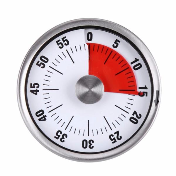 HOT-Mechanical Magnetic Kitchen Digital Timer Kochen Wecker Backen Erinnerung 60 Minuten Edelstahl Countdown-Zeit Ti