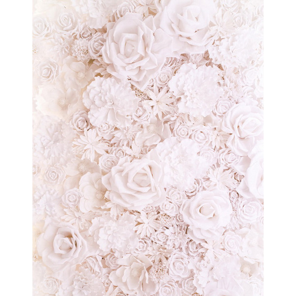 5x7FT Antique White Paper Flowers Wall Custom Photography Backdrops Studio Backgrounds Vinyl 150cm x 220cm