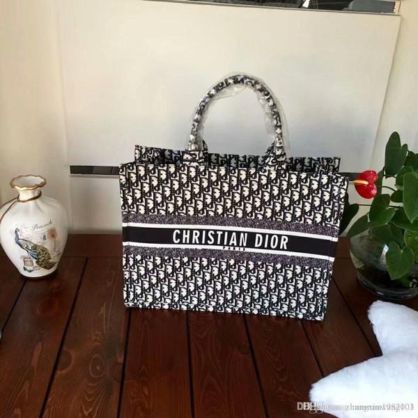 8DIOR Moda donna borsa grande capacità tote bag progettista delle donne le borse della signora famosa borse di tela di spalla delle signore della borsa 010