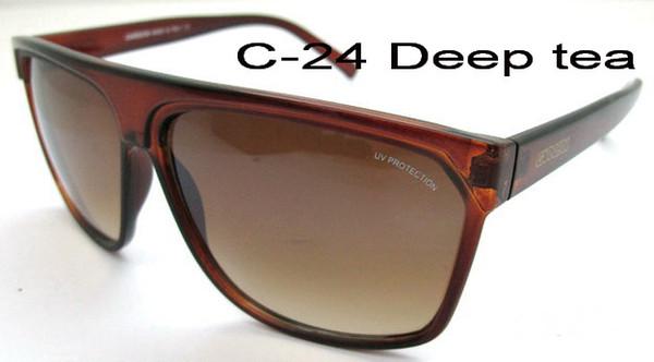 2019 nouvelles lunettes de soleil lunettes de soleil anti-UV pour hommes / femmes, C-24 + Box