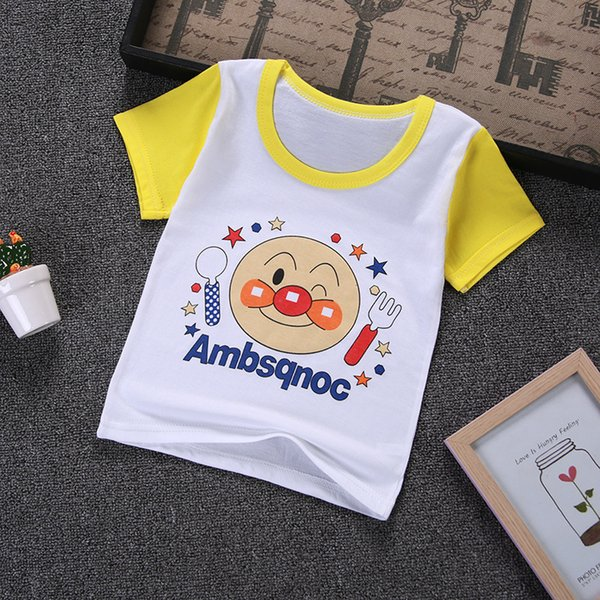 good quality summer boys t-shirt child boys cartoon print tops infant boys casual short sleeve clothes cotton sport tees clothing