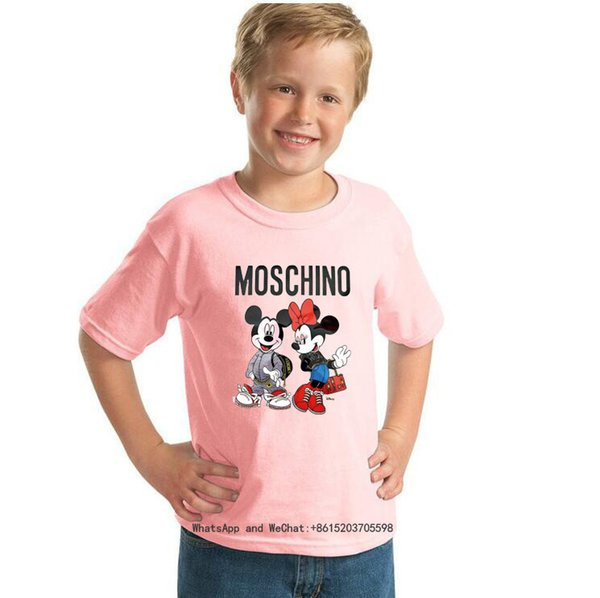 2019 Yaz Ceket Giymek Erkek giyim Çocuk Kısa Kollu T sevimli T-shirt Kız Moda 0317
