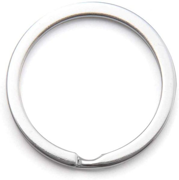 top popular 1.2'' 30mm Silver Stainless Steel Key Chain Rings Flat Edged Split Circular Keychain Ring Clips for Car Home Keys Organization 2020