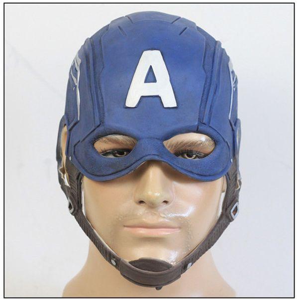Captain America Mask Helmet Avengers 4 Cosplay PVC Helmet Regalo di Natale Halloween Party Mask Puntelli Abbigliamento
