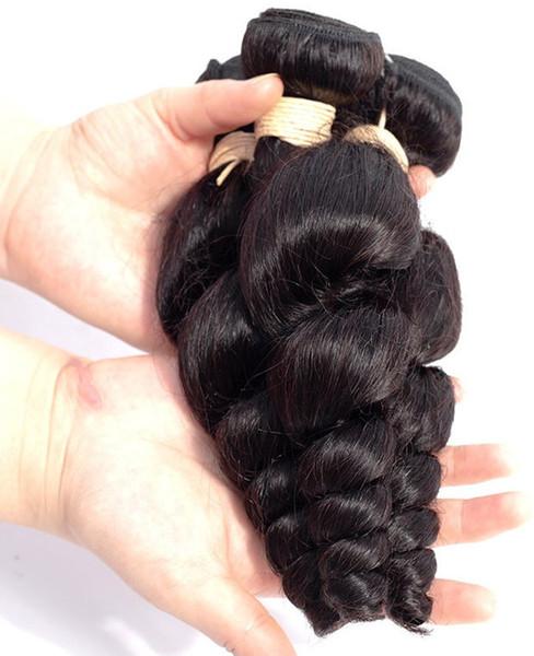 colore della natura, 100% tessuto dei capelli umani / bundle, 10