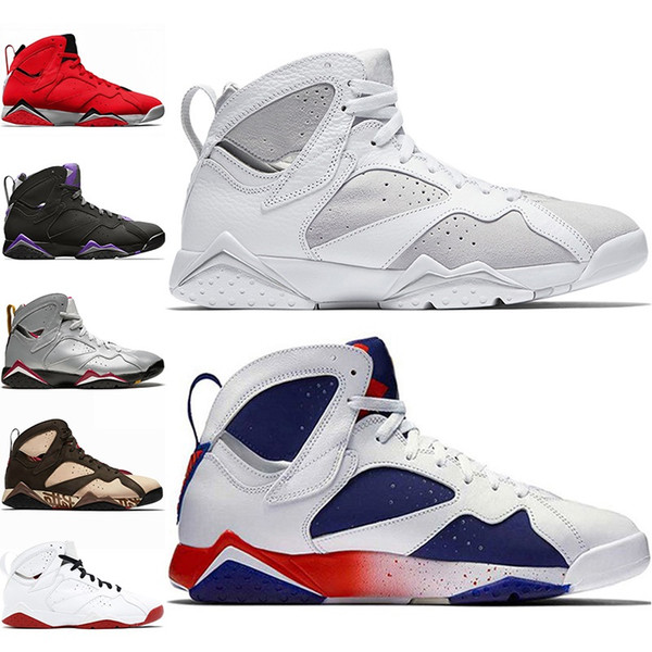 Cheap 7 Men Basketball Shoes 7s Patta Ray Allen Reflections of A Champion Mens Trainer Athletic Sports Sneakers Size 8-13 Drop Shipping