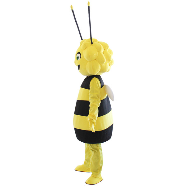 High quality Mascot character Maya the bee mascot costume hot sale smile bee costumes For Halloween party with free shipping