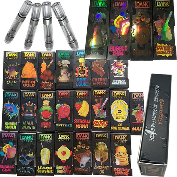 Cartuccia Olografica Dank Vapes Confezione 510 Filo Vaporizzatore Penna Vaporizzatore M6T G5 Cartuccia 1ML .8ML E Sigarette Vape Carts Atomizzatore a olio vuoto