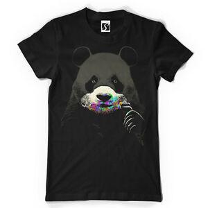 Camiseta Masculina Exclusiva - Sabor Colorido - Panda Design (SB474)