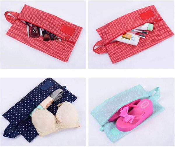 Stars Flowers Shoes Pouch Waterproof Nylon Multi Function Zipper Portable Shoe Storage Box Lovers Travel Practical Receive Dust Bags A4805