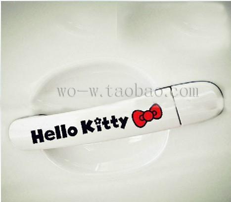 PARA bowknot Olá Kitty / engraçado agradável / Car janela de telefone adesivos decalque / Não tem medo de água / vermelho reflexivo
