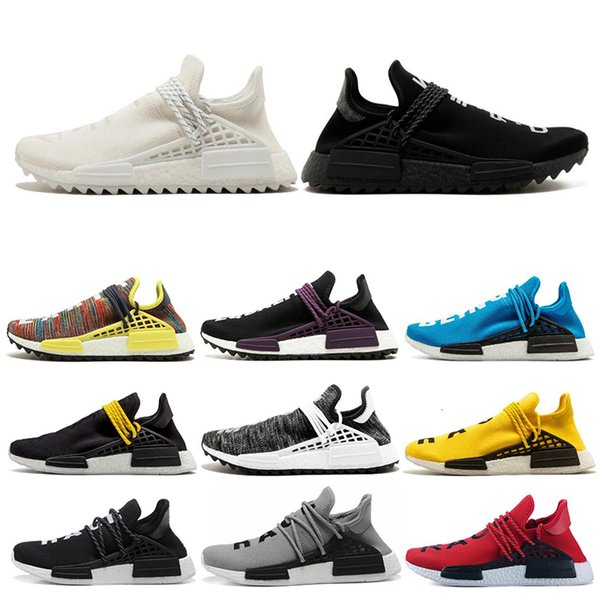 36 45 human race hu trail pharrell williams men running shoes nerd black cream orange red mens trainer women sports runner sneakers