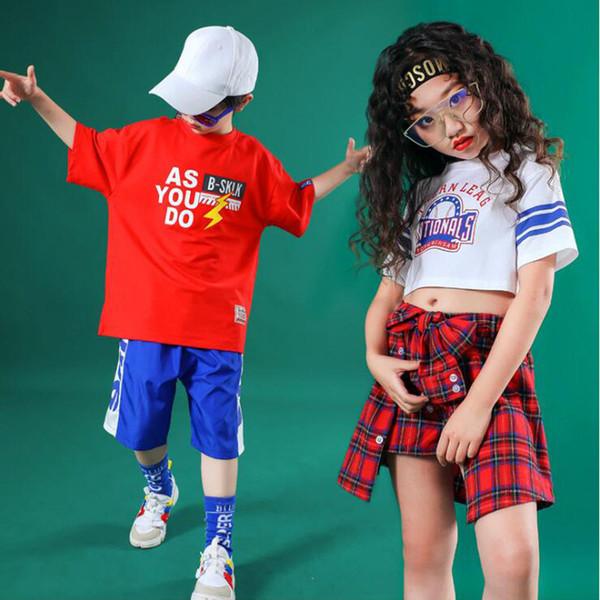 I bambini Ballroom Jazz Dance Costumi hip-hop Abbigliamento bambini danza moderna ragazze fase indossano costumi di concerti festa di strada Outfits
