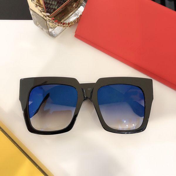 Preto Gradiente lente azul
