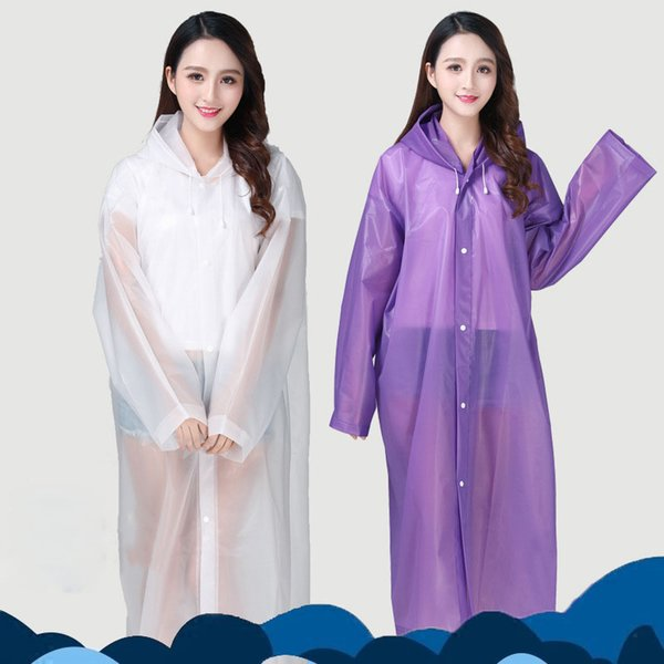 Fashion EVA environmental protection material thickening raincoat walking outdoor tourism waterproof fishing raincoat women