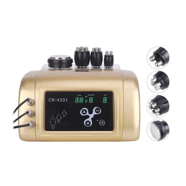 2019 portátil 4 en 1 cavitación ultrasónica masajeador corporal pérdida de peso bipolar radiofrecuencia RF estiramiento de la piel máquina de eliminación de arrugas faciales