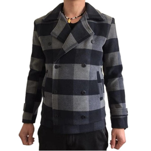 2019 İlkbahar Moda Kafes Suit ceket rahat erkek Kendinden yetiştirme Gevşek Coat streetwear jaket erkekler Sıcak Satış rüzgarlık