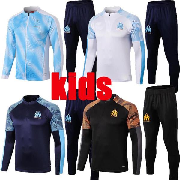 2019 2020 enfants l'Olympique de Marseille Survêtement Veste de football Maillot de Foot 19 20 Veste OM PAYET L.GUSTAVO THAUVIN football sui formation