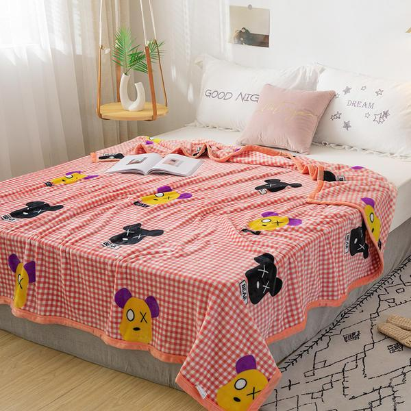 Wholesale Winter Warm Blankets Coral Fleece Flannel Plush Summer Blanket Throw for The Bed Sofa King Queen Full Twin Size