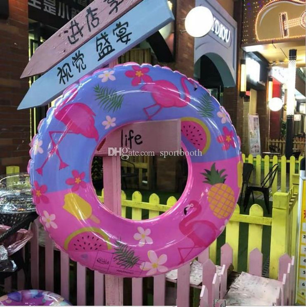 best selling 70cm Swimmming Pool Child Swimming Ring Watermelon Pool Float for Kids Inflatable Flamingo Ring for Children Inflatable Circle 02