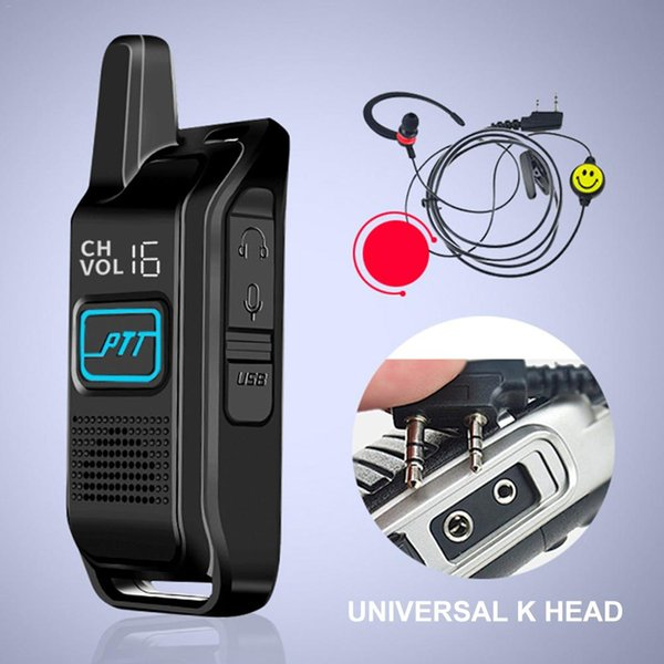 1800 mAh 5 W Mini Ince Mikro Walkie Talkie Kablosuz Profesyonel El Güzellik Salonu Interkom Telsiz Walkie-talkie