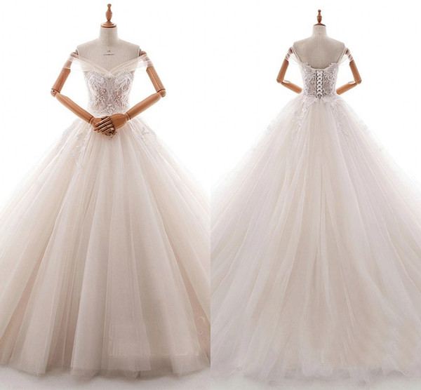 Amazon 3D Floral Appliques Bohemian Wedding Dresses Off Shoulder Short  Sleeve Pleats Lace Draped Wedding Gowns Plus Size Tulle Country Princess  Ball ...