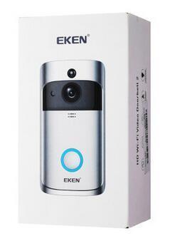 2019 EKEN V5 스마트 비디오 인터콤 비디오 문 전화 문 벨 WIFI 초인종 카메라 홈 IR 경보 무선 보안 카메라
