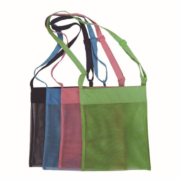 Colorful sand mesh beach pouch storage bag summer holiday Party kids seashell bag mesh bag Children gifts LX6386