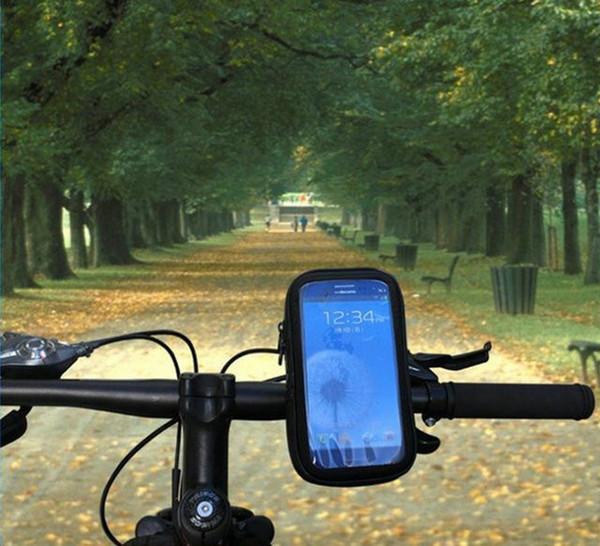 50pcs / lot bicicleta Bag rotação de bicicleta à prova d'água saco do telefone Caso montar titular para Samsung Galaxy S4 Para i9500 / S3 i9300