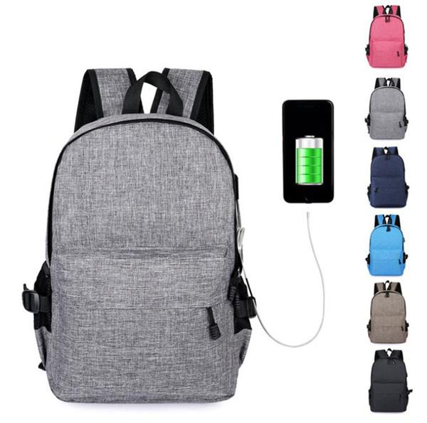 Креатив Путешествия Bagpack Компьютер Back Pack Smart Business 15 дюймов Сумки для ноутбуков Рюкзак с USB зарядный порт для деловой поездки рюкзак