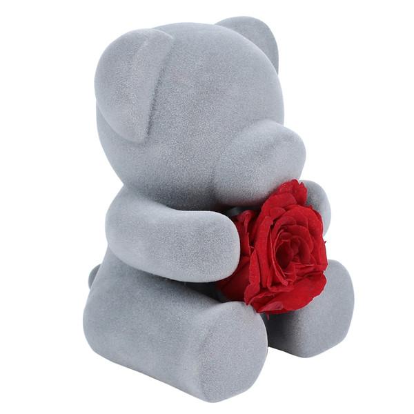 Eternal Flower Red / Pink Party Lovely Bear Doll Día de San Valentín Romántico envío de la gota