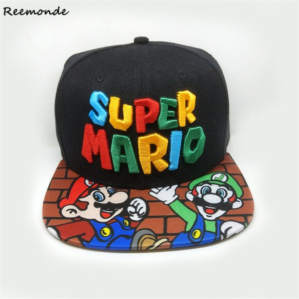 Super Mario Bros Hats Cosplay Mario Luigi Yoshi Snapback Baseball Caps Cartoon Adult Casual Summer Sun Hats Couple Hip Hop Caps