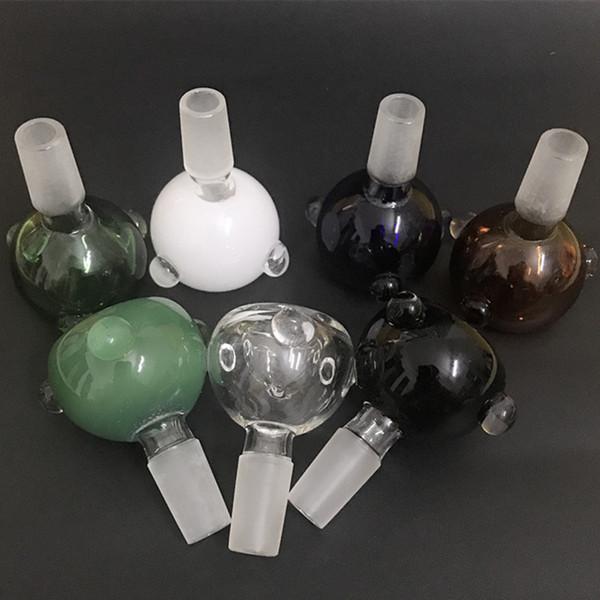Bol en verre 14mm 18mm Femme Homme Heady Pyrex Bols en verre Herb holers pour l'eau Bongs Bols Rig Funnel Accessoires Ash Catcher