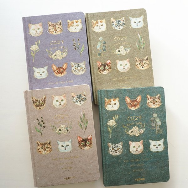 """""""cozy Cat"""" Hard Cover Diary Beautiful Notebook Journal Cute Notepad Free Note Stationery Girls Gift"""