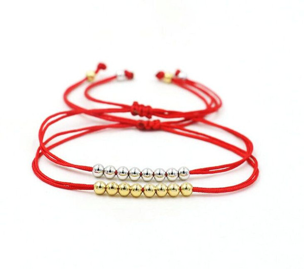 Free ship 20pcs Lucky Red Black Rope Strings Beads Charms Thread Braid Bracelets For Men Women Lucky Pulseras Lovers Gifts