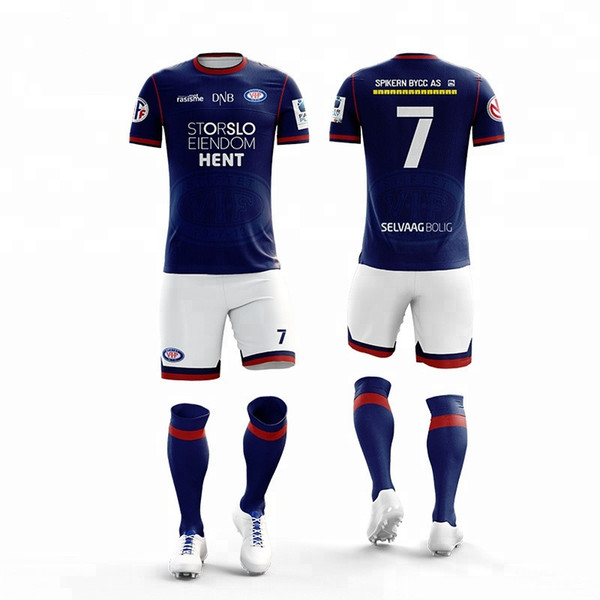 5bd09ed57f7 Customized Soccer Uniform team practice football jersey Sublimation custom  youth sports outfits Colthes 2019 Football Uniforms