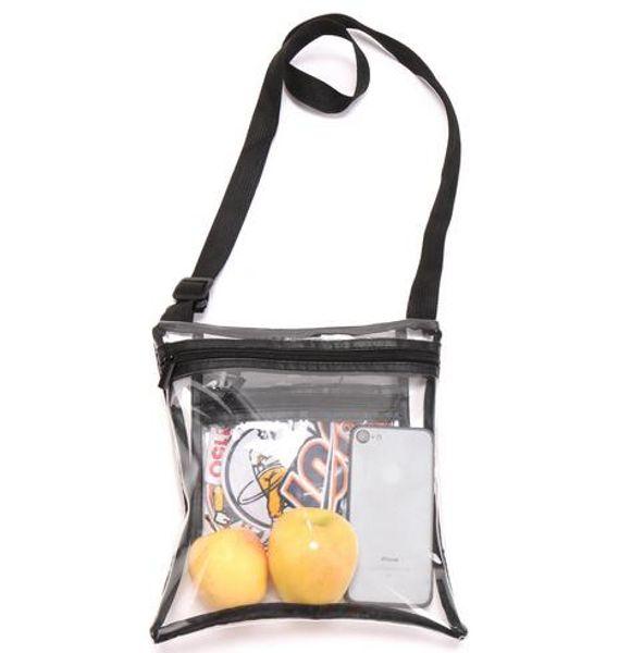 19 новый Clear Crossbody кошелек сумка для спорта Утвержден Clear плеча Tote Bag. Стадион Одобрен для спортивных мероприятий