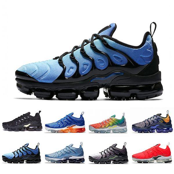 Nike Air Vapormax Plus Tn Cojín Barato Zapatillas Deportivas Hyper Blue Mujer Hombre Negro Oro Lobo Gris Petardo Cebra Zapatillas Deportivas