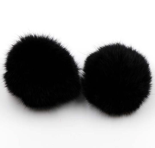 Piel 10 cm conejo bola de pelo llavero llavero decoración del coche bolsa colgante siguiente Maomao bola colgante materiales al por mayor