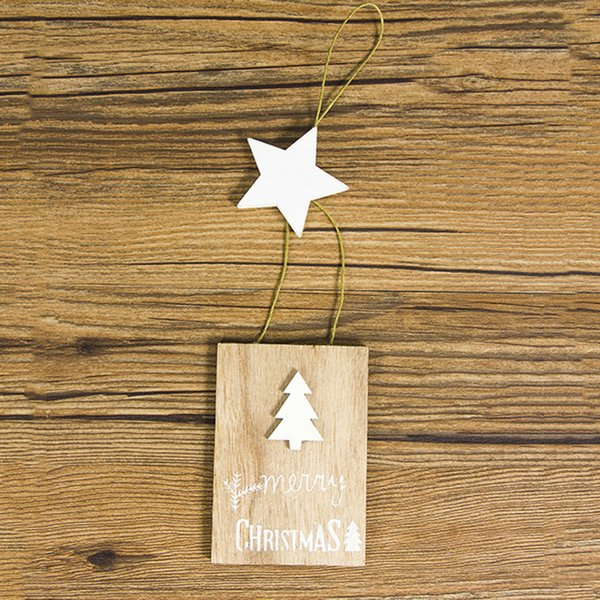 Party Decorations Handmade Wooden Letters Printed Tag Christmas Festival Signs Diy Crafts Ornament Home Gifts Hanging Pendant Decorate Christmas