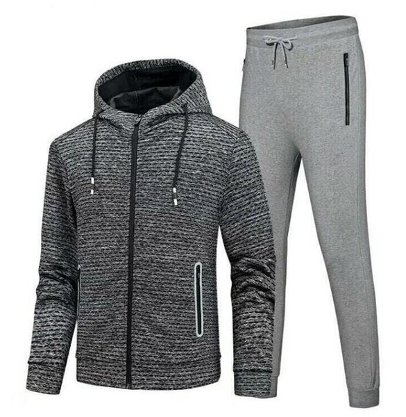 2019 Fashion Men Sportswear Hoodie Sweatshirts Autumn Winter Jogger  Sporting Suit Mens Under Zipper Sweat Suits Tracksuits Set Plus Size ARMOR  From