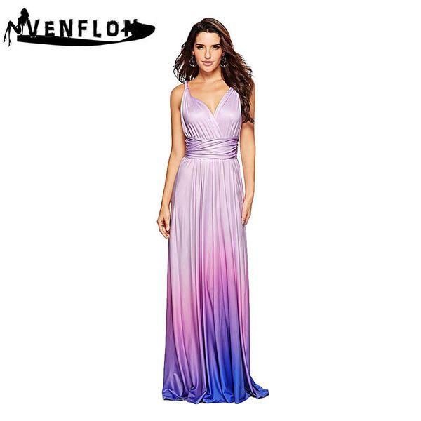 VENFLON 15 Ways Bandage Women Summer Dress 2019 Sexy Backless Beach Maxi Desses Elegant Evening Long Party Dress Female vestidos Y19042401
