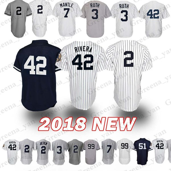 the best attitude f2582 d2913 2019 New York Yankees Jersey 3 Babe Ruth 7 Mickey Mantle 42 Mariano Rivera  99 Aaron Judge 23 Mattingly 51 Bernie Williams Jerseys Flex Base From ...